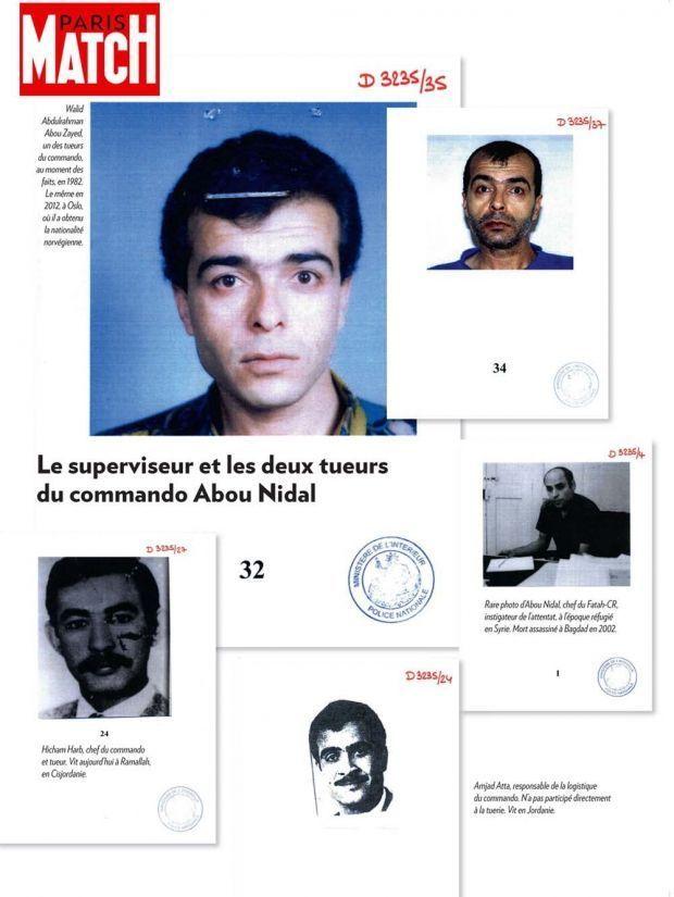 Le visage du chef du commando, Hichem Harb, en bas à gauche.