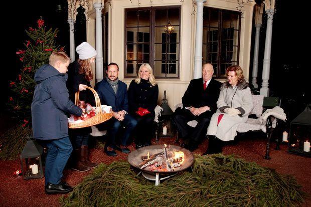 Shooting de Noël de la famille royale de Norvège dans le parc de la Reine à Oslo, le 20décembre 2016