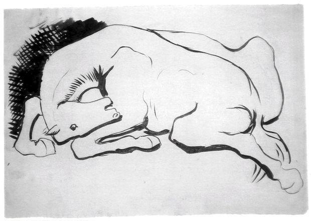 Dessin d'un cheval par Pablo Picasso.