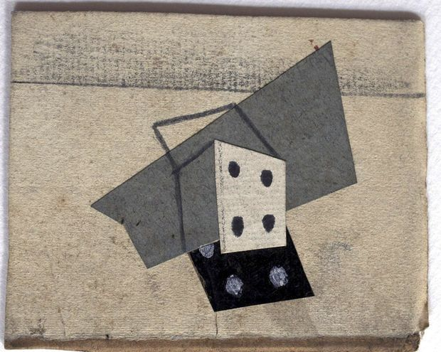 """Une oeuvre de Pablo Picasso intitulée """"Dés""""."""