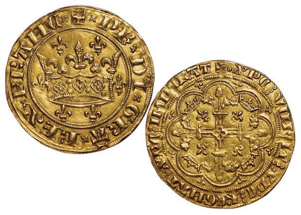Très rare couronne d'or royale de Philippe VI