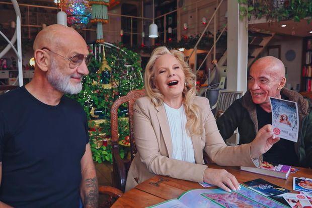 Gilles, Sylvie Vartan et Pierre.