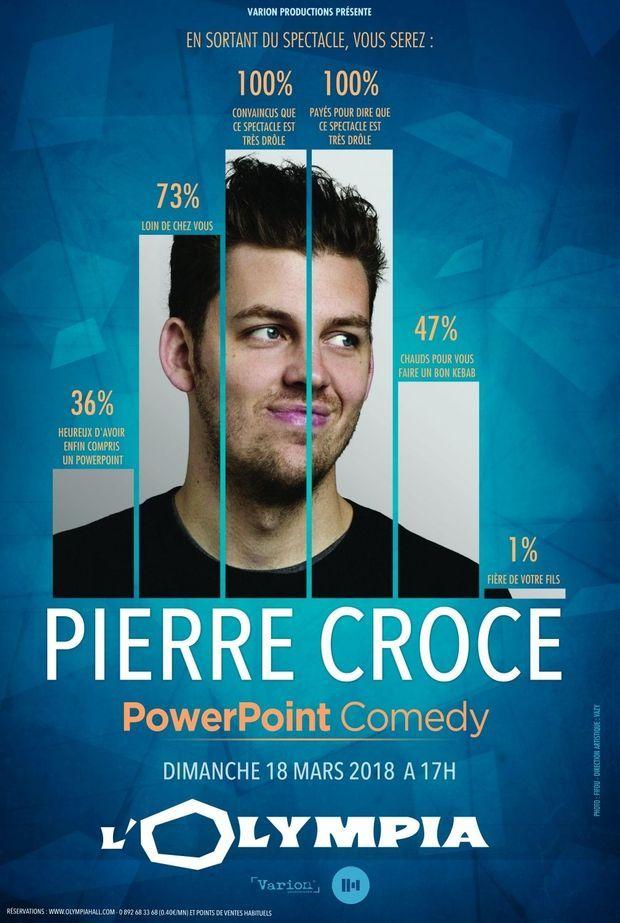 Retrouvez Pierre Croce à l'Olympia dimanche 18 mars