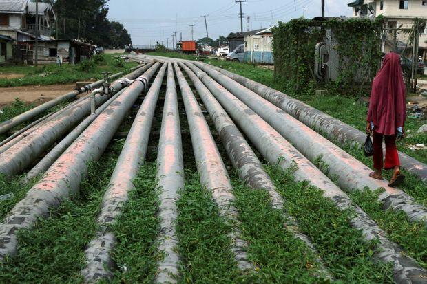 Un pipeline dans la région de Port Harcourt au Nigeria