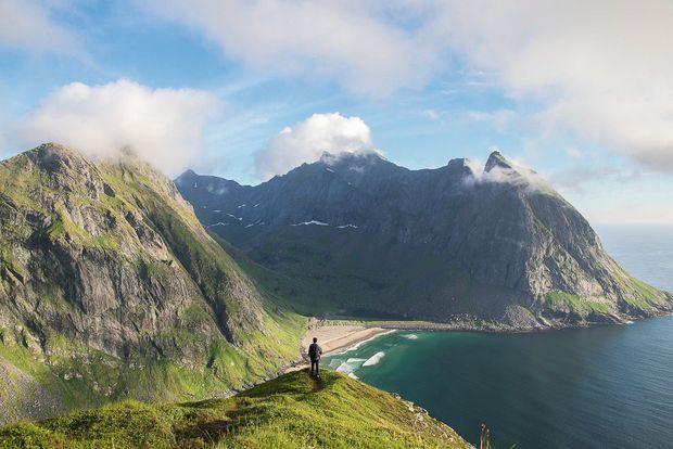 Plage de Kvalvika, en Norvège : « L'un des plus beaux paysages des îles Lofoten. »
