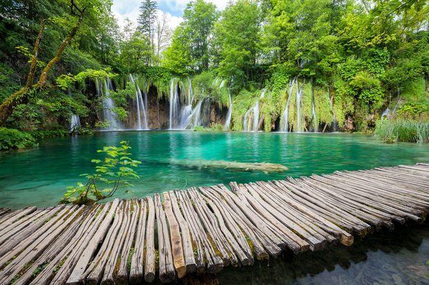 Les lacs de Plitvice.