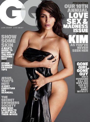 """Kim Kardashian, la cover girl du mois de juillet dans """"GQ""""."""