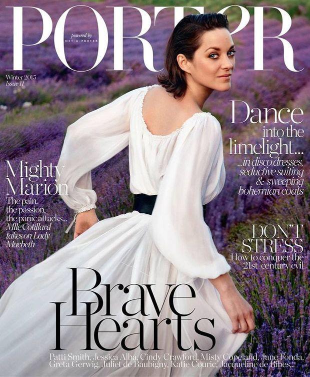 Marion Cotillard en Une de Porter Magazine.