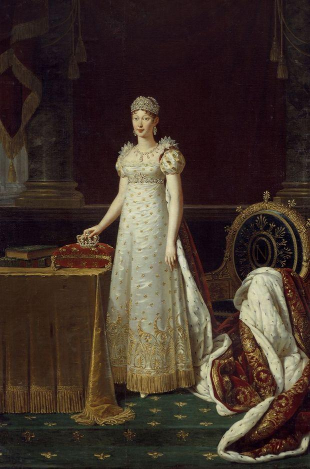 Portrait de l'impératrice Marie-Louise parée de diamants par Robert Lefevre (Musée du château de Versailles)
