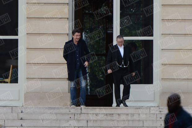 L'ancien candidat à la mairie de Paris Benjamin Griveaux mardi à l'hôtel de Lassay.