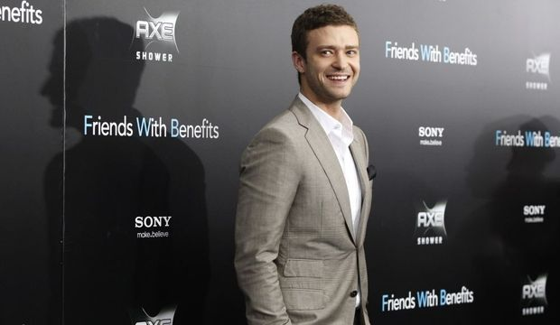 Première Friends with benefits Justin Timberlake-