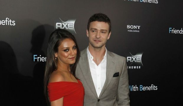 Première Friends with benefits Mila Kunis et Justin Timberlake-
