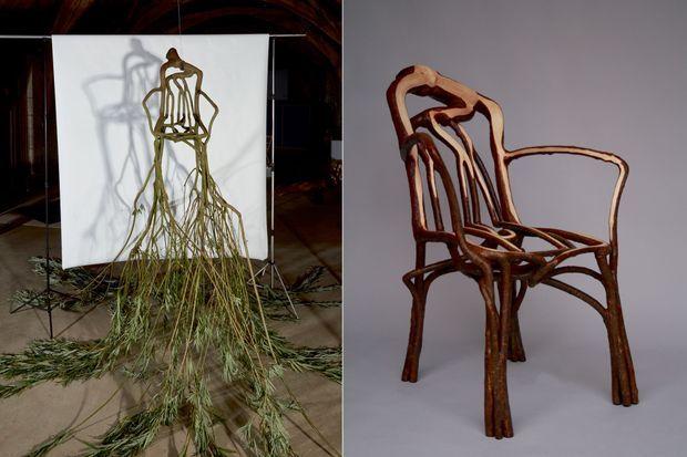 Présentées lors des dernières rencontres Anti_Fashion, les chaises du designer Gavin Munro. L'avenir, pour lui, c'est le biodesign : créer à partir de matériaux vivants et non pas manufacturés.