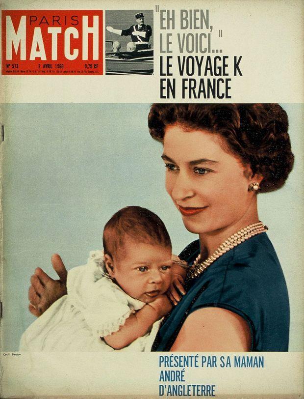 « Présenté par sa maman, André d'Angleterre » - Paris Match n°573, 2 avril 1960.
