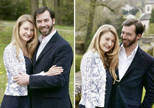 Prince Guillaume et la comtesse Stéphanie luxembourg-