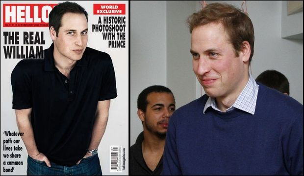 Prince William Couverture Hello photo Centrepoint-
