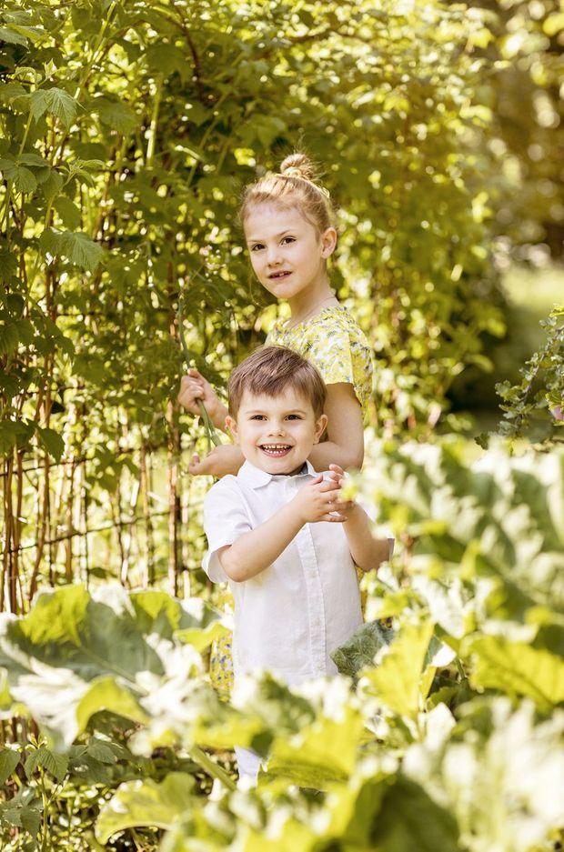 La princesse Estelle et le prince Oscar de Suède. Photo diffusée le 13 juin 2019