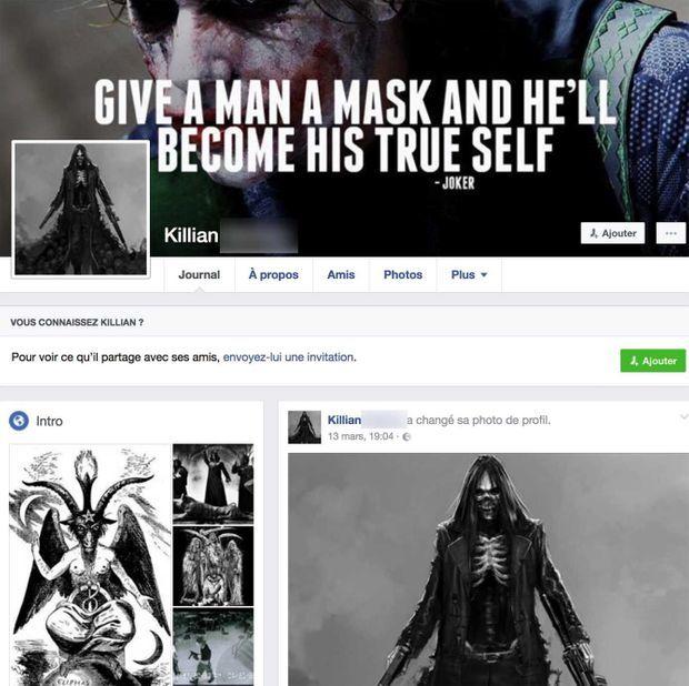 Profil Facebook du suspect
