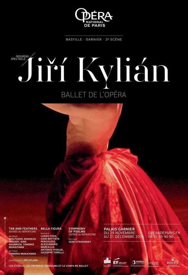 Programme Jiri Kylian, Ballet de l'Opéra de Paris, jusqu'au 31 décembre.