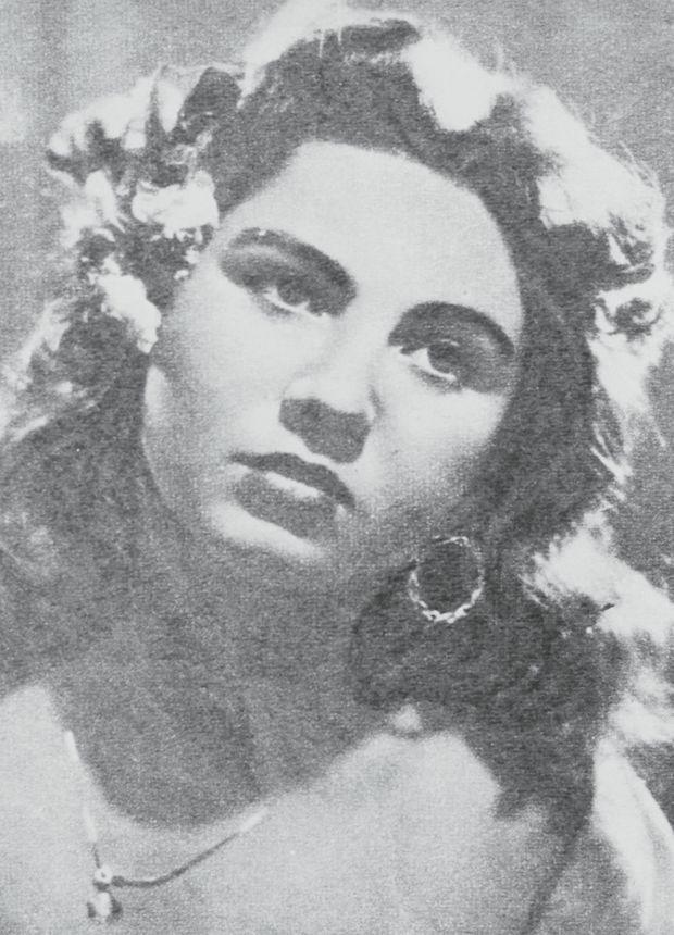 """La """"Pupetta"""" après sa victoire au concours de beauté, en 1954."""