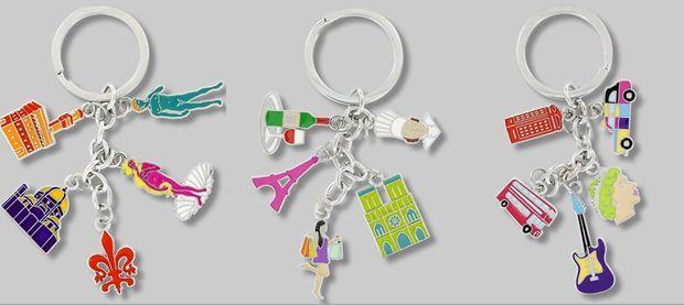 Les porte-clés dédiés aux villes.