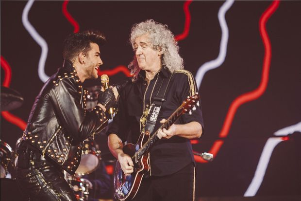 Queen et Adam Lambert à Paris