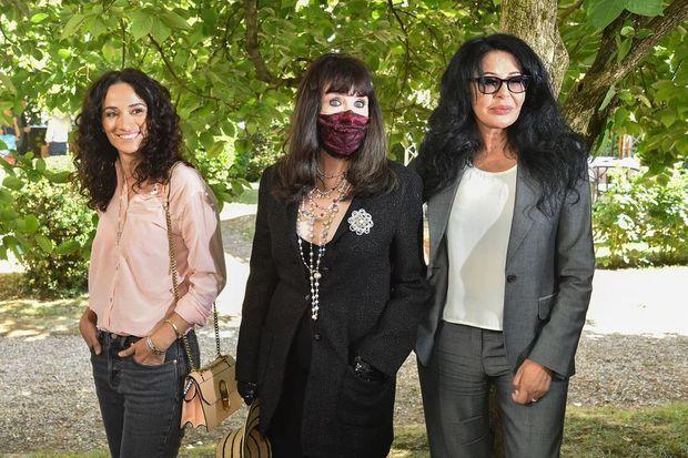 Rachida Brakni, Isabelle Adjani et Yamina Benguigui au Festival du film francophone d'Angoulême pour la présentation du film «Soeurs» le 31 août 2020