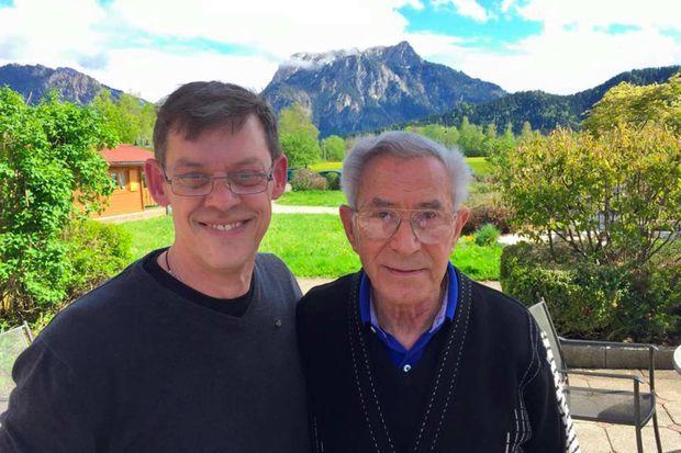 Rainer Höss et Ben Lesser le jour de leur rencontre.