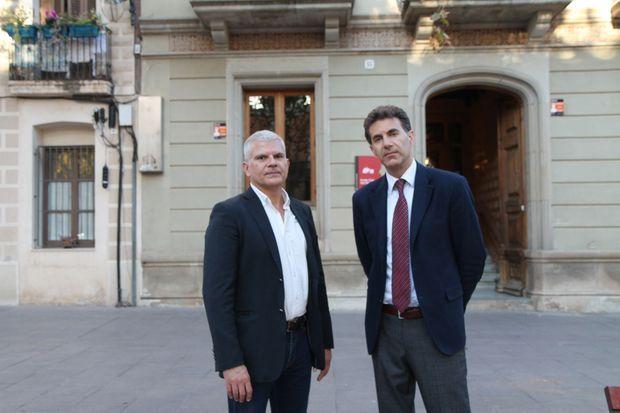 """Les auteurs du """"Projet"""", Emmanuel Razavi (à g.) et Alexandre Del Valle à Paris, novembre 2019"""