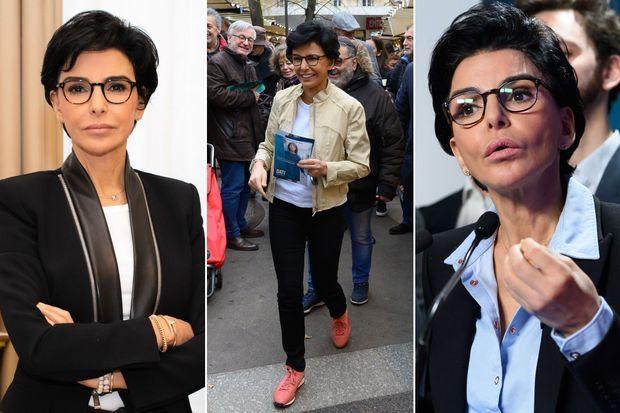 Rachida Dati en campagne, en novembre 2019, puis en février 2020