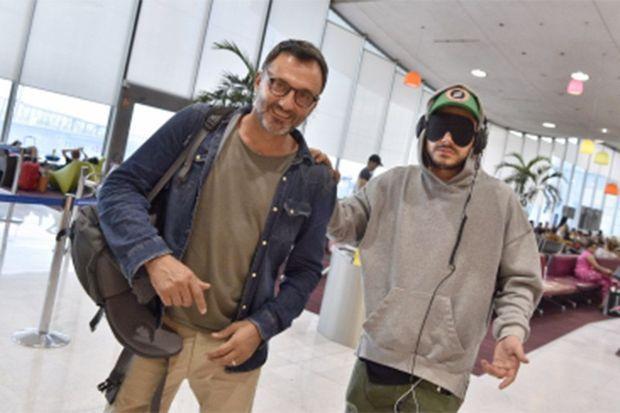 Kev Adams et Frédéric Lopez.