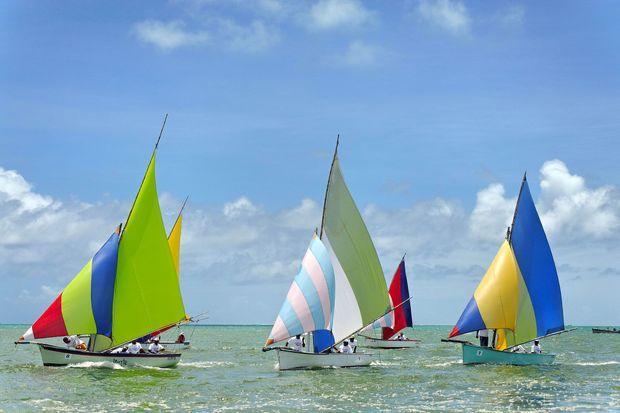 Tous les dimanches, couses de bateaux à Maurice