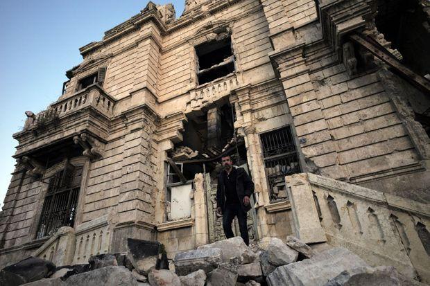 Régis Le Sommier à Alep en novembre 2017.
