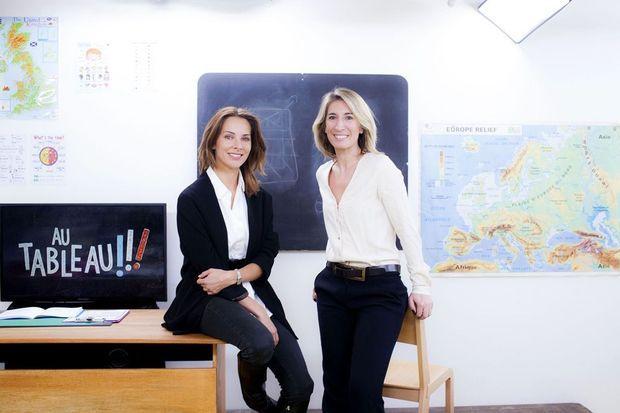 les journalistes Caroline Delage, qui a eu l'idée originale de l'émission, et Mélissa Theuriau, qui l'a co-produite.