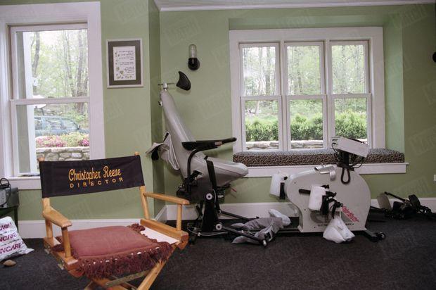 Le vélo de Christopher Reeve, dans sa propriété de Bedford, dans l'Etat de New York, en avril 1998.