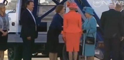 Reine australie révérence-