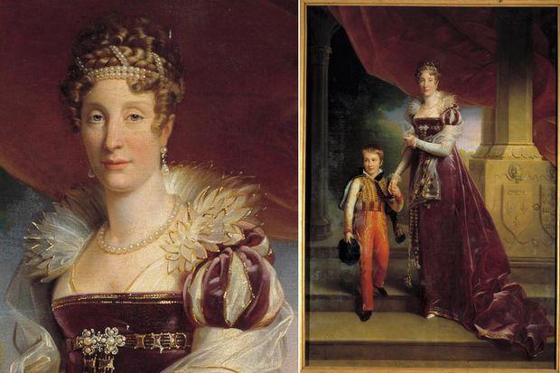 Portrait de Marie-Amélie et de son fils aîné, par Gérard en 1817 (Musée du château de Versailles)