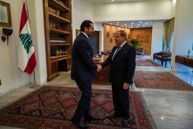 Rencontre avec Michel Aoun au palais présidentiel de Baabda, le 27 novembre.