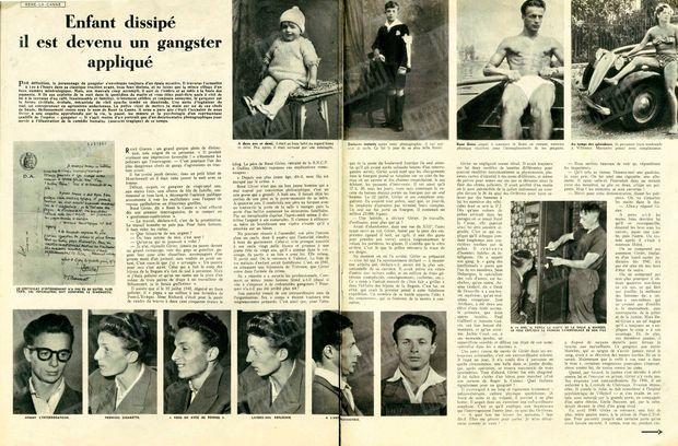 « Enfant dissipé, il est devenu un gangster appliqué » - Paris Match n°26, 17 septembre 1949