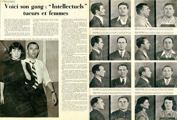 """« Voici son gang : """" Intellectuels"""" tueurs et femmes » - Paris Match n°26, 17 septembre 1949"""