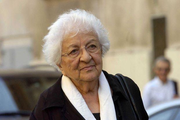 Renée Le Roux, la mère d'Agnès, lors du procès de Maurice Agnelet en septembre 2007.