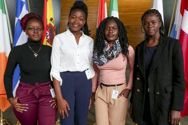 Mascrine Atieno, Purity Achieng, Stacy Owino et Cynthia Otieno;