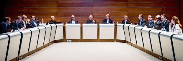 Réunion du comité exécutif de PSA à Vélizy, le 24 mars.