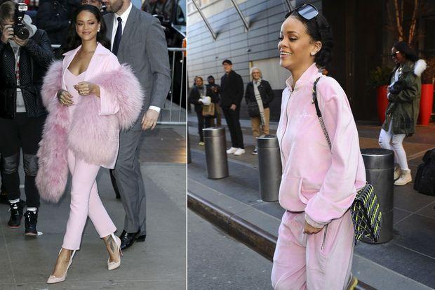 Rihanna en rose.