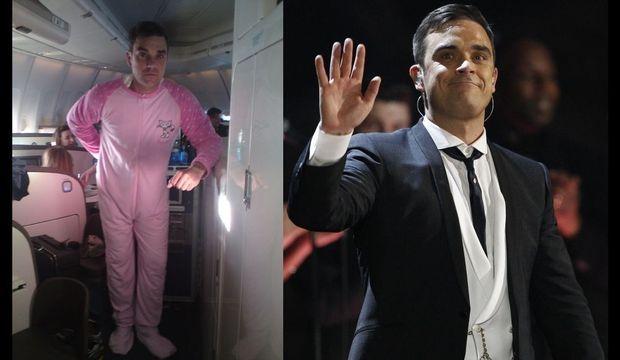 Robbie Williams Grenouillère rose-