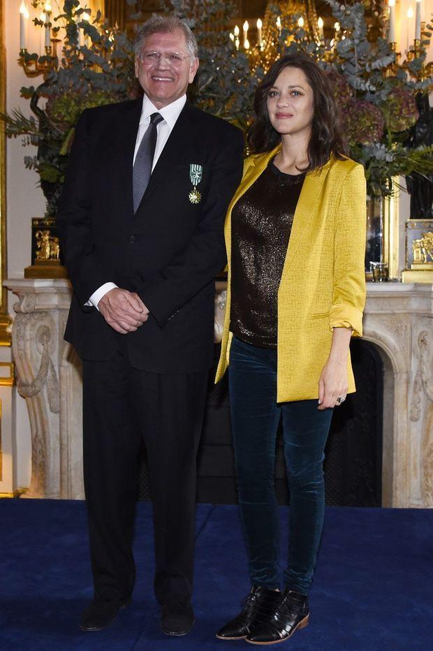 Robert Zemeckis et Marion Cotillard, samedi.