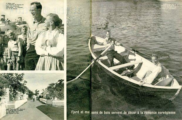 «Fjord et maisons de bois servent de décor à la romance norvégienne» - Paris Match n°542, 29 août 1959