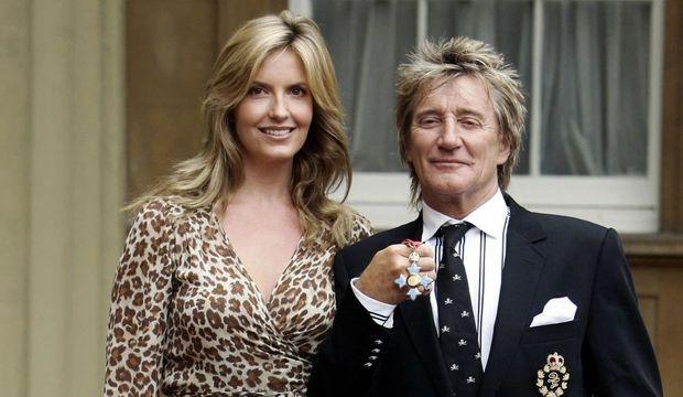 Rod Stewart et Penny Lancastern-