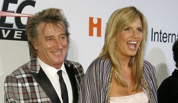 -Rod Stewart et sa femme Penny Lancaster--