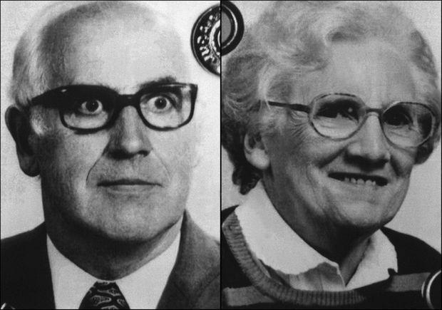 Aimé et Anne-Marie Romand, les parents de Jean-Claude Romand, assassinés par leur fils, le 9 janvier 1993.